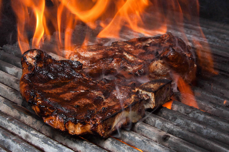 Sizzling T-bone Steak