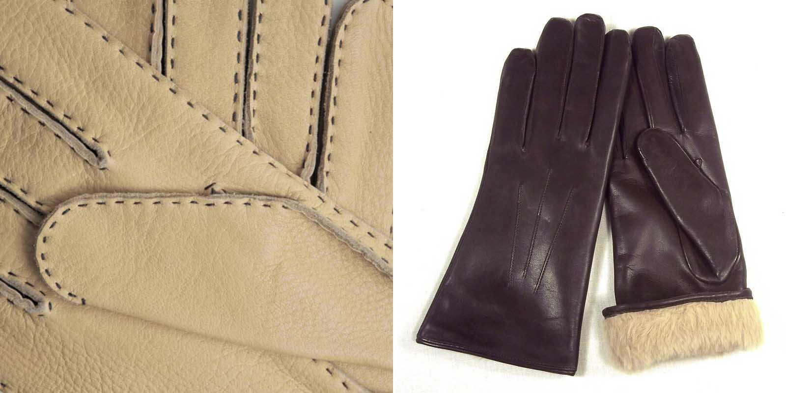 Brown vs black leather gloves - Deerskin Gloves Slink Lamb