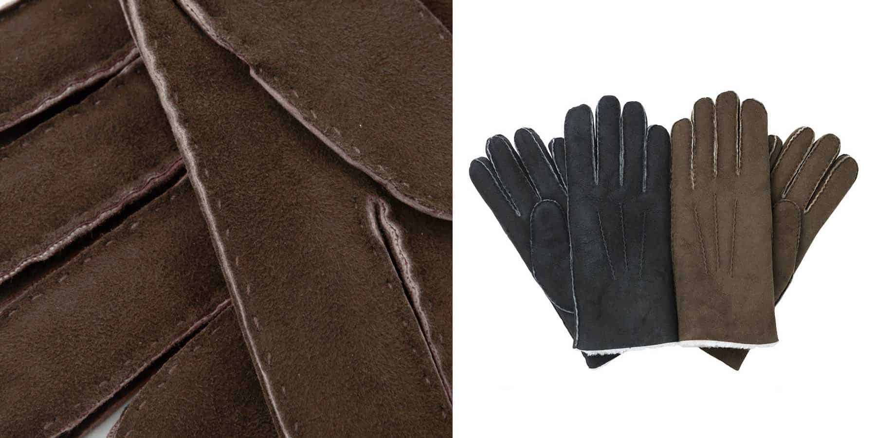 Mens leather driving gloves australia - Kidskin Suede Hairsheep Gloves