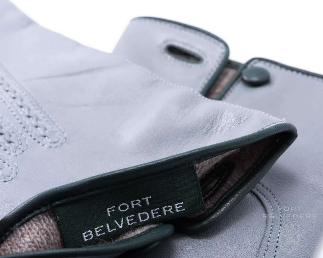 Leather work gloves with wool lining - Light Grey Men S Gloves With Cashmere Lining Fort Belvedere