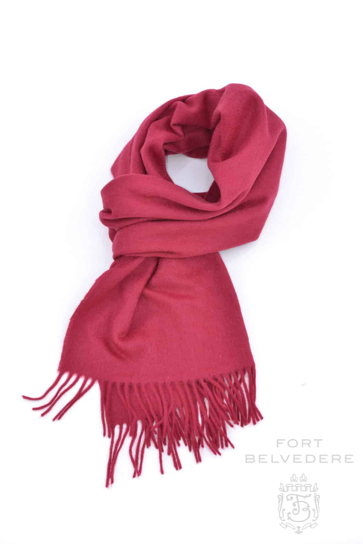 Solid Red Cashmere Scarf 180 x 30 cm - Fort Belvedere