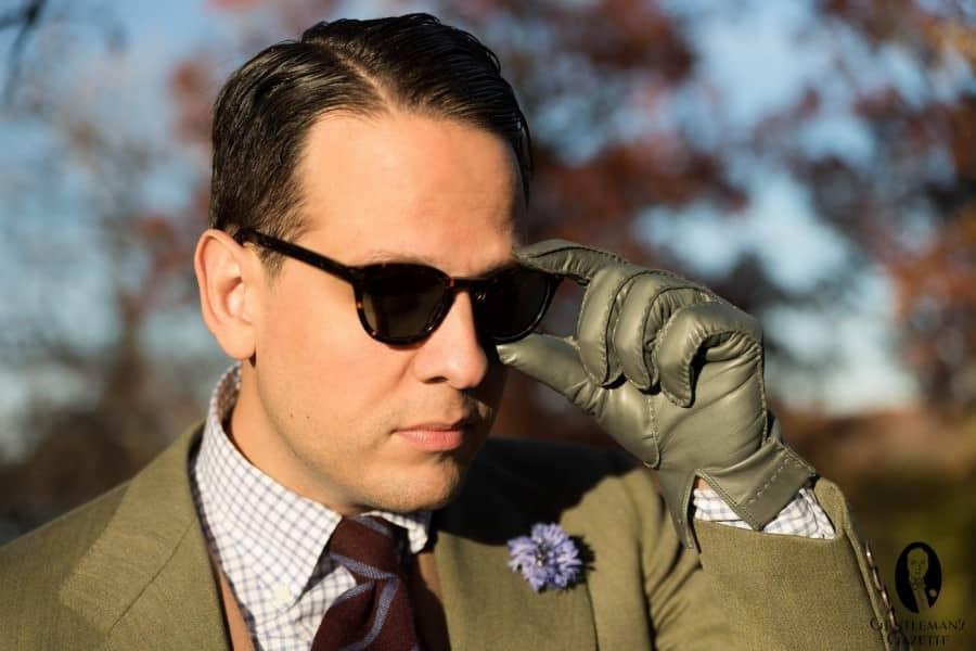 Sven Raphael Schneider wearing Atelier Eyewear Acetate Sunglasses