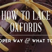 How To Lace Oxfords