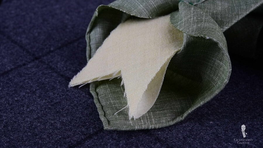 Italian Tie Interlining in wool and cotton by Fort Belvedere