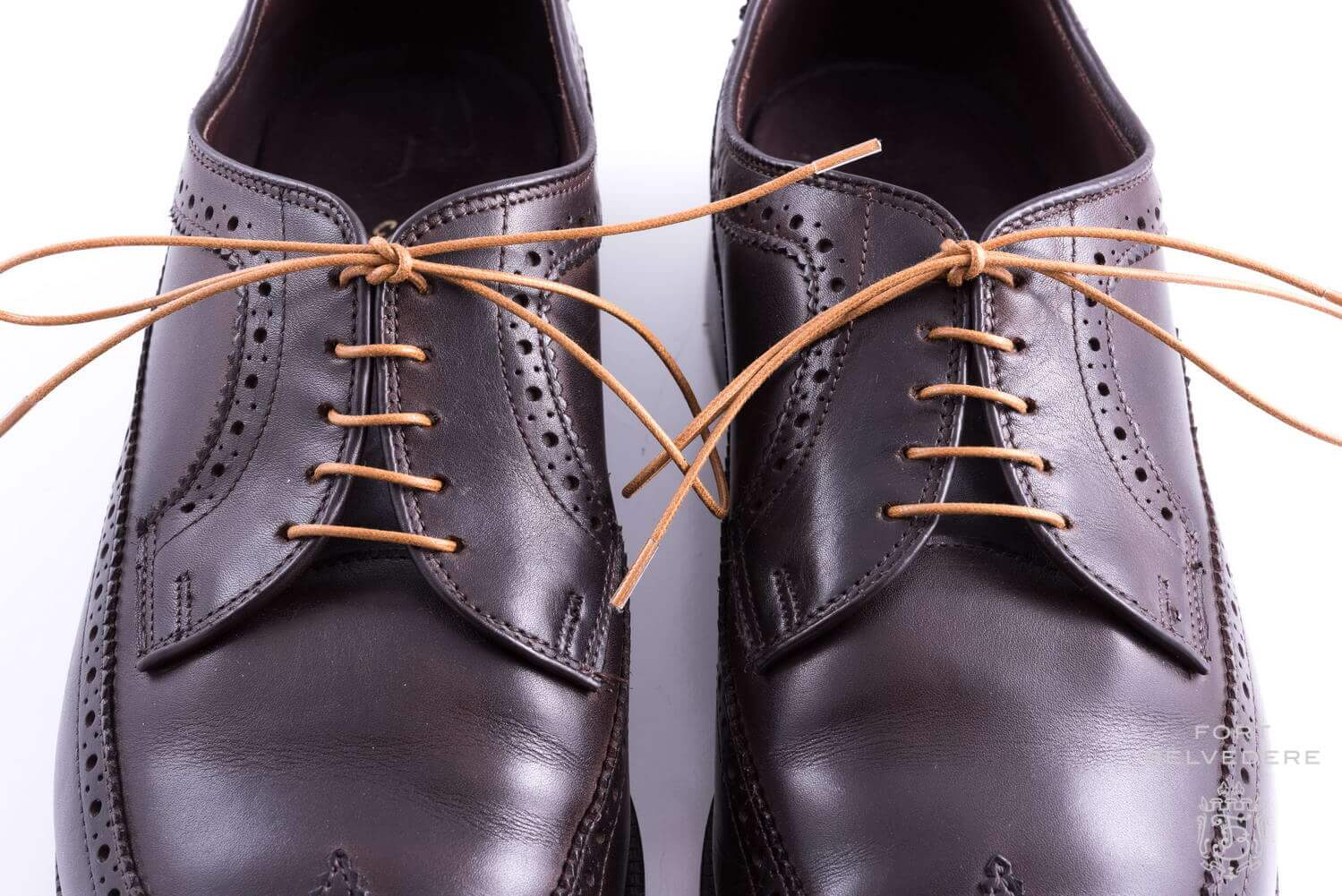 Brown Dress Shoes And Black Laces