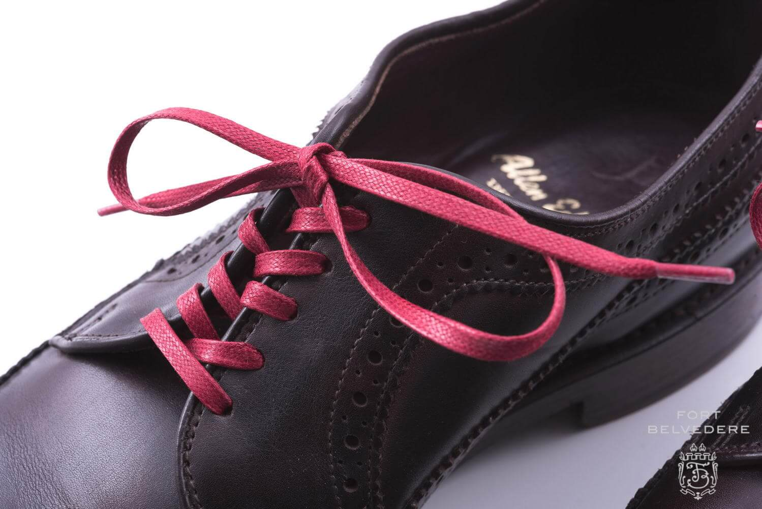 Black Derby Shoes Red Laces