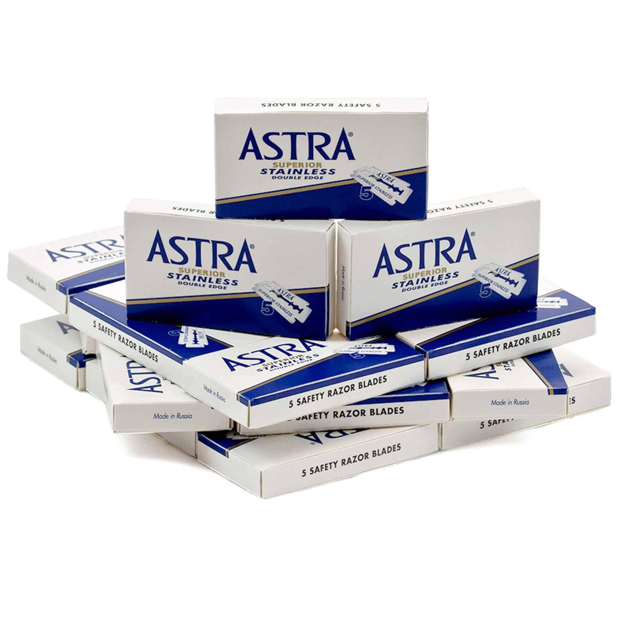 Astra blue blades