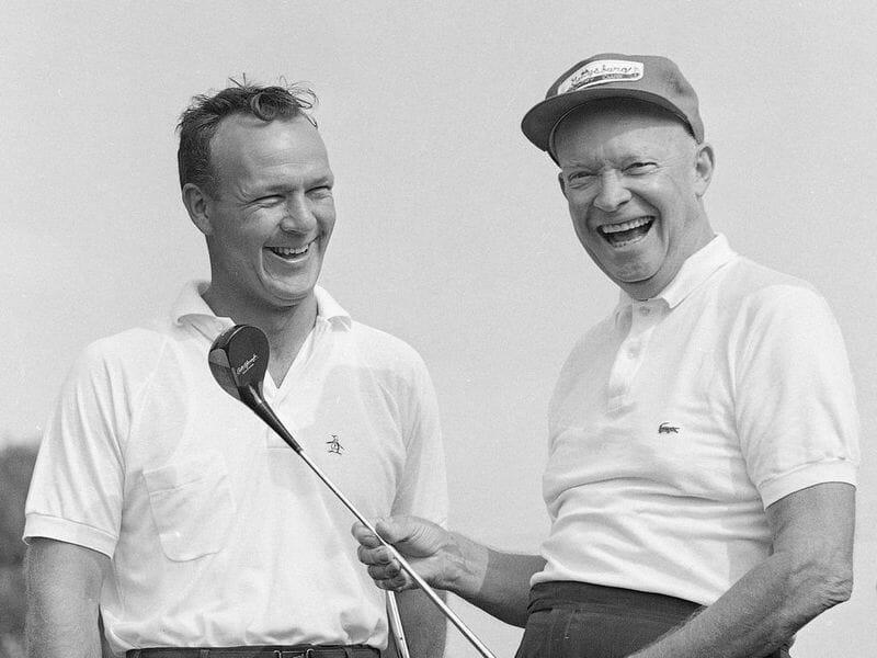 Eisenhower wears a Lacoste polo