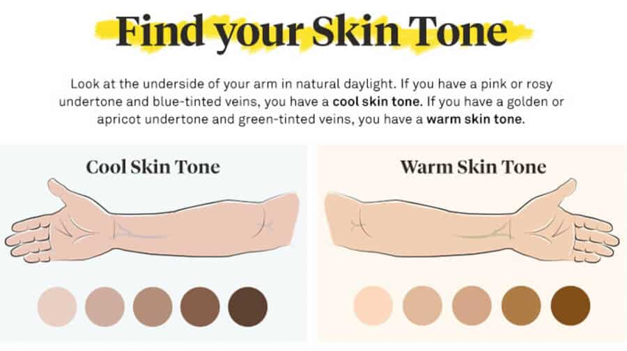 Finding your skin tone