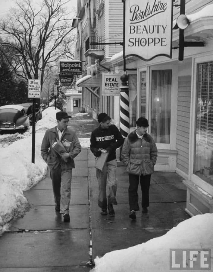 Ivy School Boys on a Walk