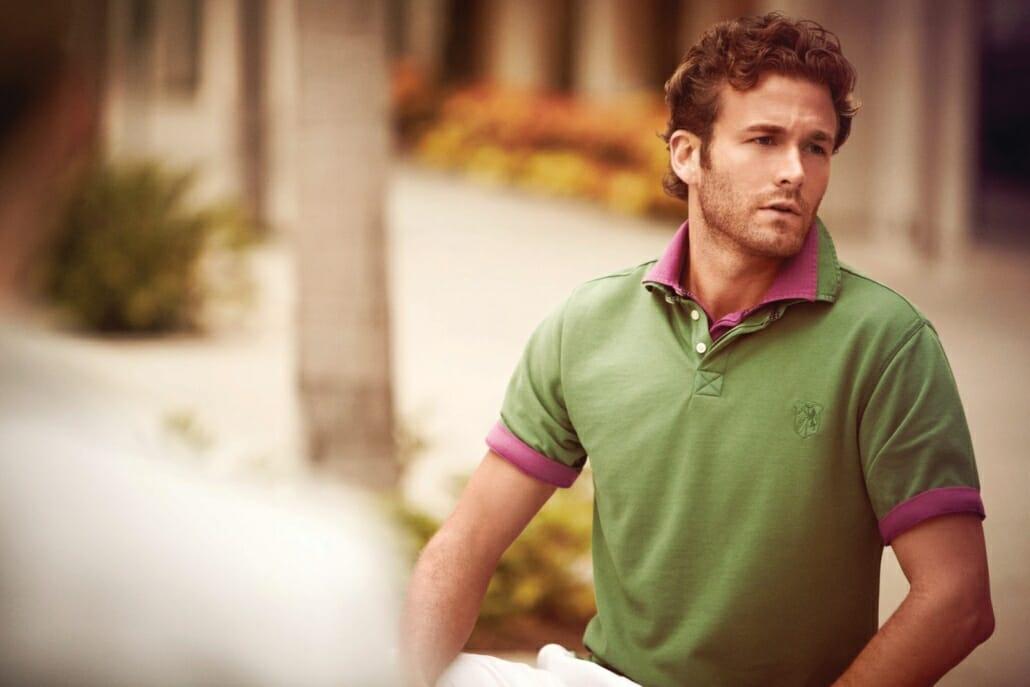 Layered polo shirts