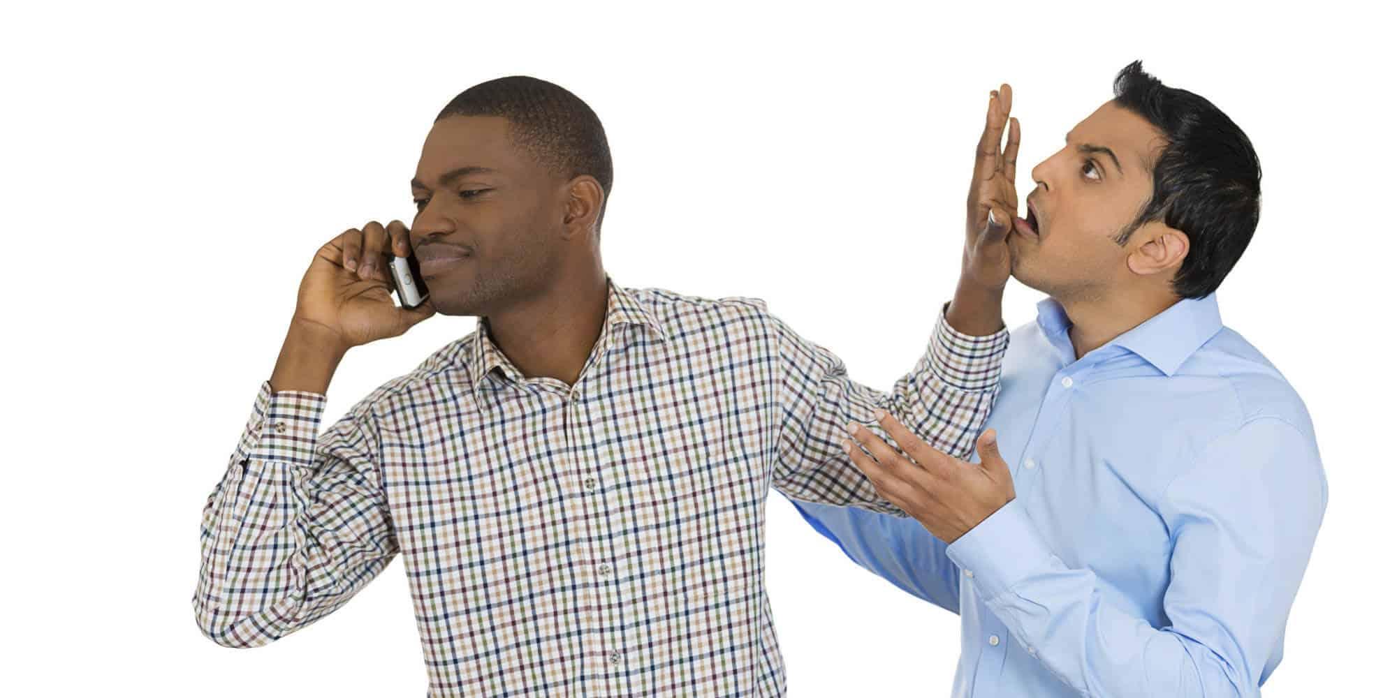 Cell phone interruptions u2013 people before phones, we say