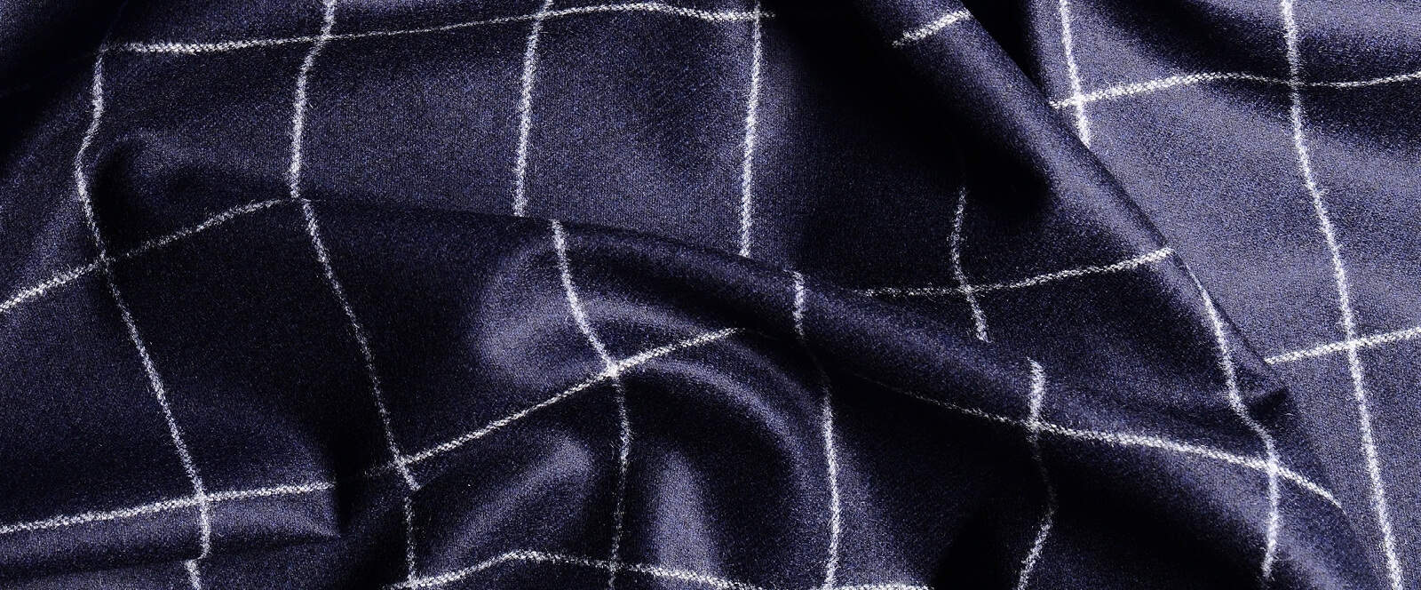 Flannel The Original Woolen Fall Fabric Gentlemans Gazette Flanel Navy Blue Woollen Carded With Windowpanes