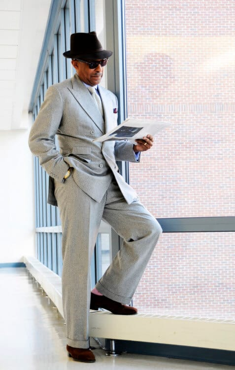 Dr. Churchwell in Light Gray Flannel Suit