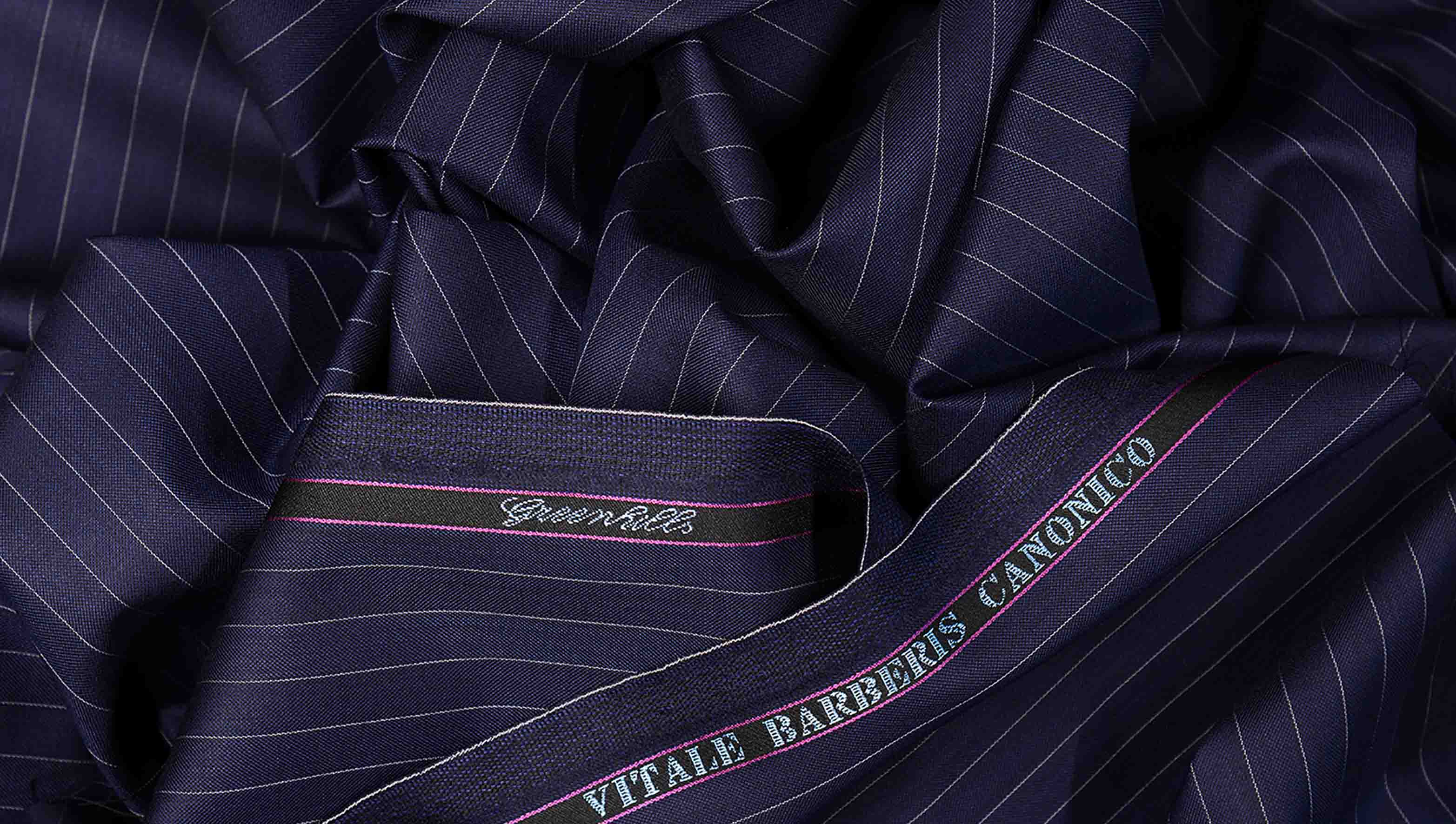 Worsted Wool Suiting Fabric Guide Gentlemans Gazette Ply Conversion Tables Greenhills Pin Stripe Blue