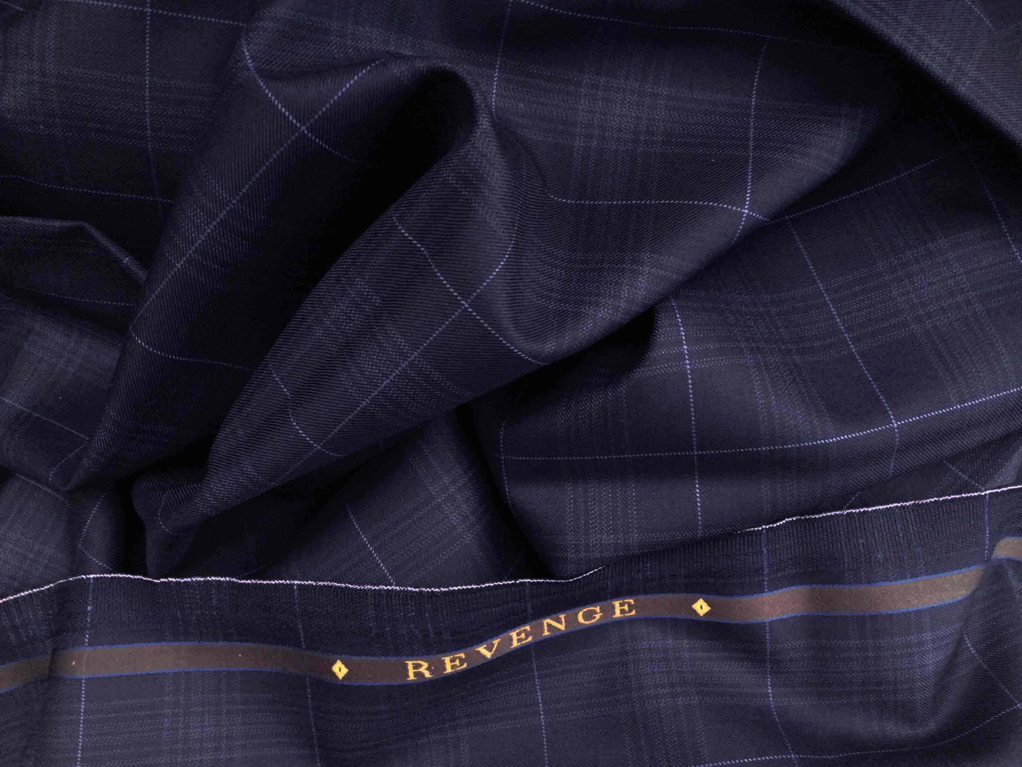 Worsted Wool Suiting Fabric Guide Gentlemans Gazette Ply Conversion Tables Revenge Double Twist In Navy Blue