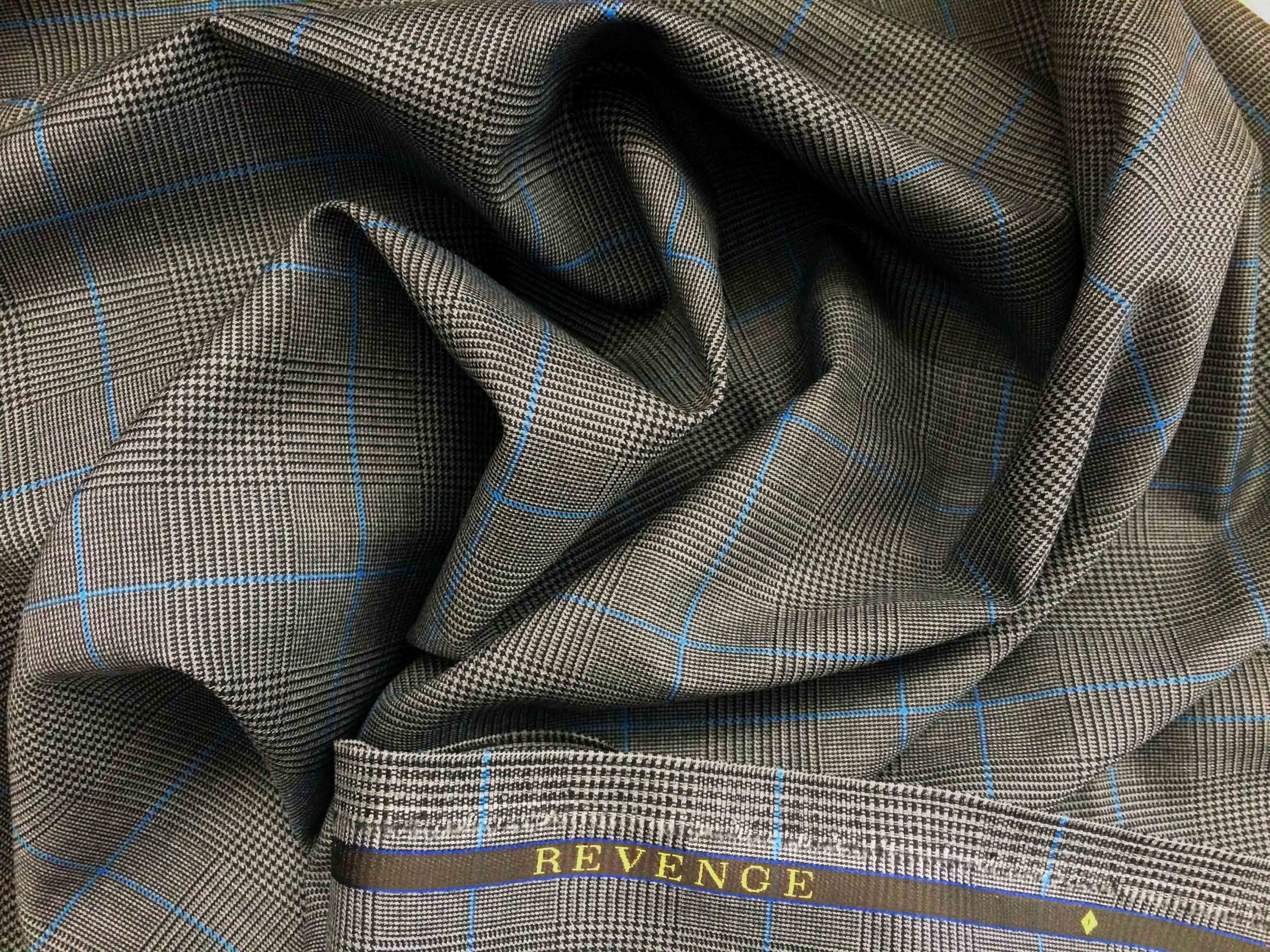 Worsted Wool Suiting Fabric Guide Gentlemans Gazette Ply Conversion Tables Revenge In Prince Of Wales Check With Light Blue Overplaid