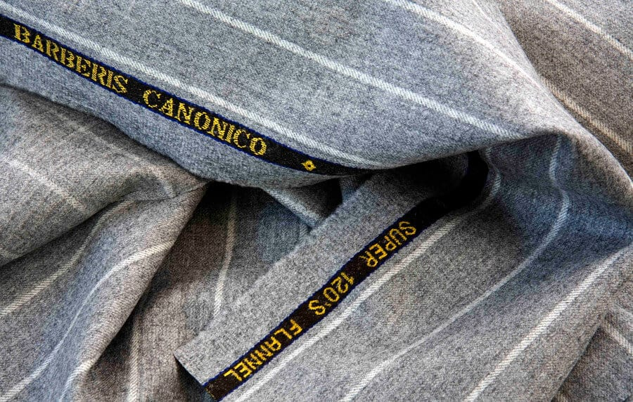 Lightweight Worsted Flannel From Combed Yarn