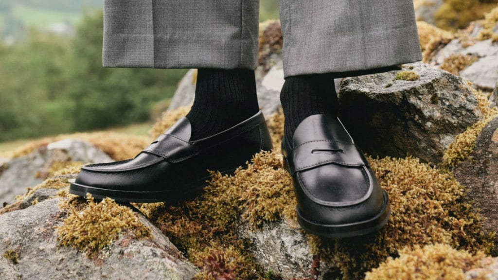 Penny Loafers from Aurlands in black leather. [Image Courtesy: Aurlands]
