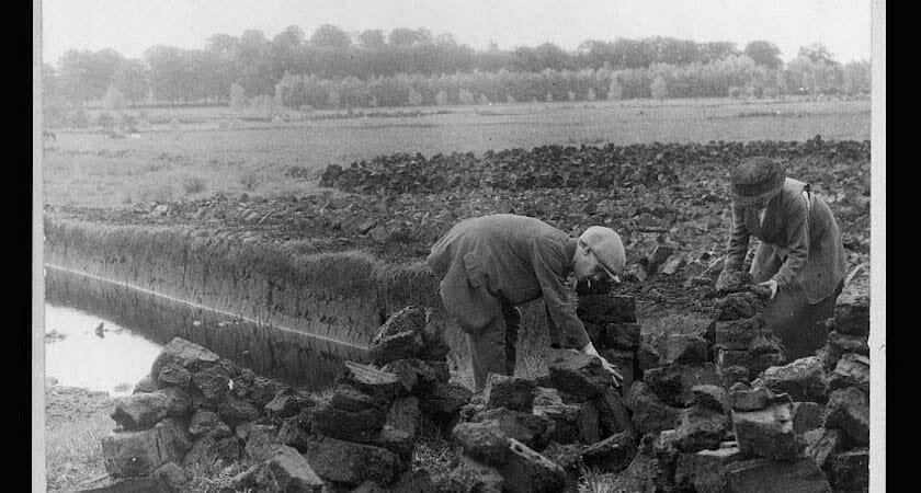 Irish Bog Workers at the turn of the 20th century