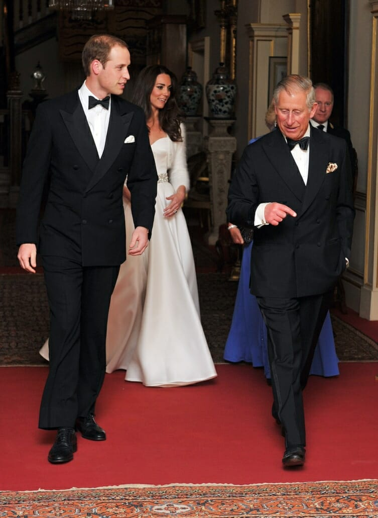 Prince WIlliam wears wingtips with his tuxedo