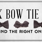 The Black Bow Tie Guide