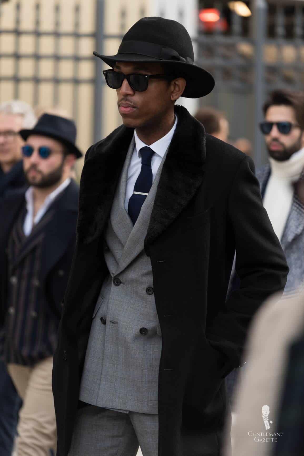 Black overcoats