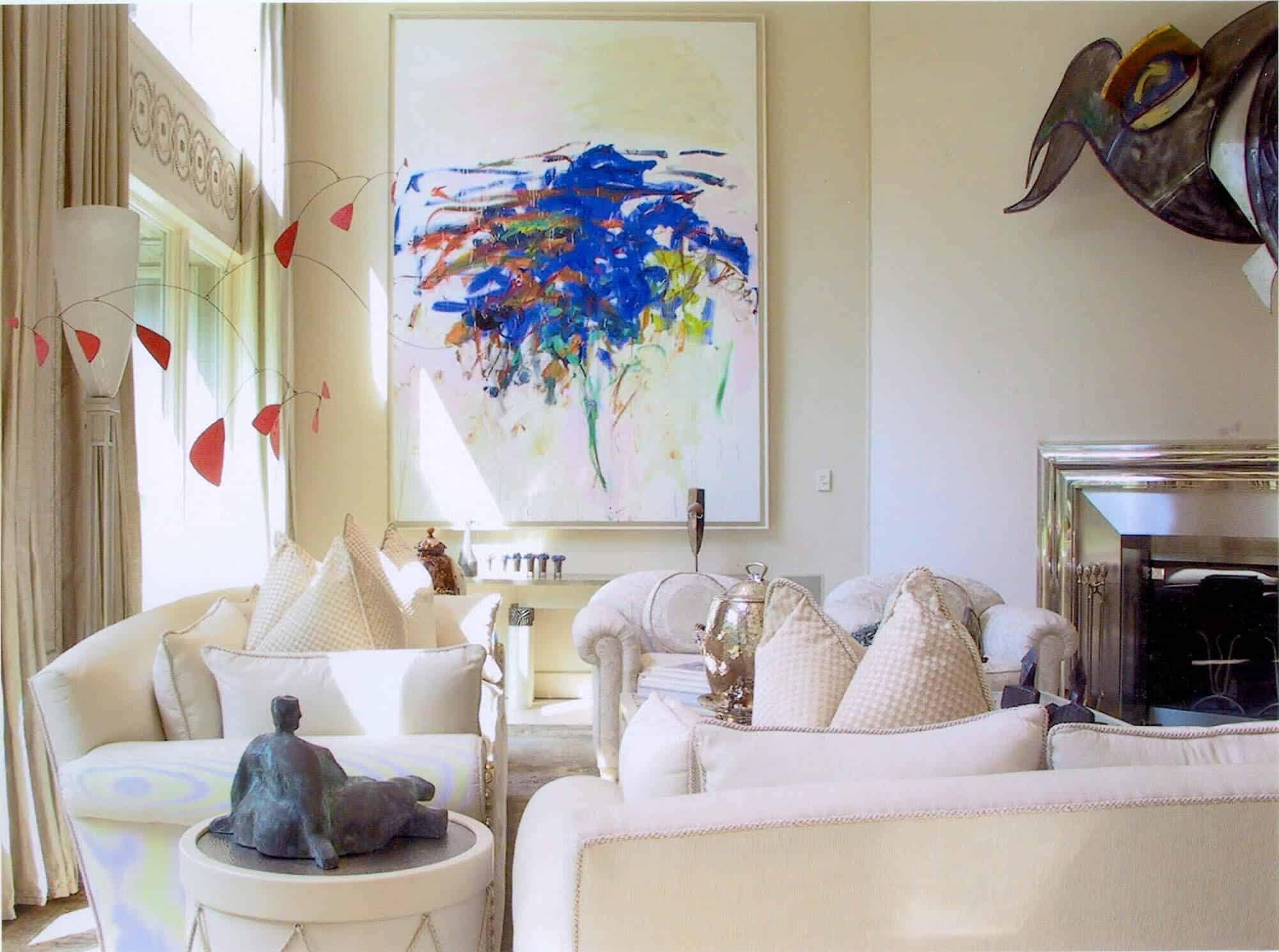 Stunning Art in Contemporary Living Room
