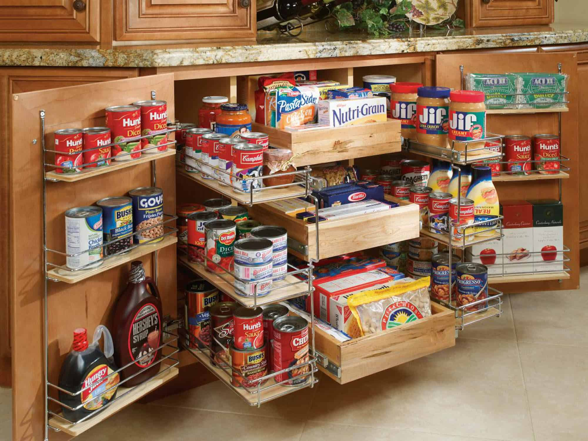 Awesome Built in pantries can be great for small kitchens