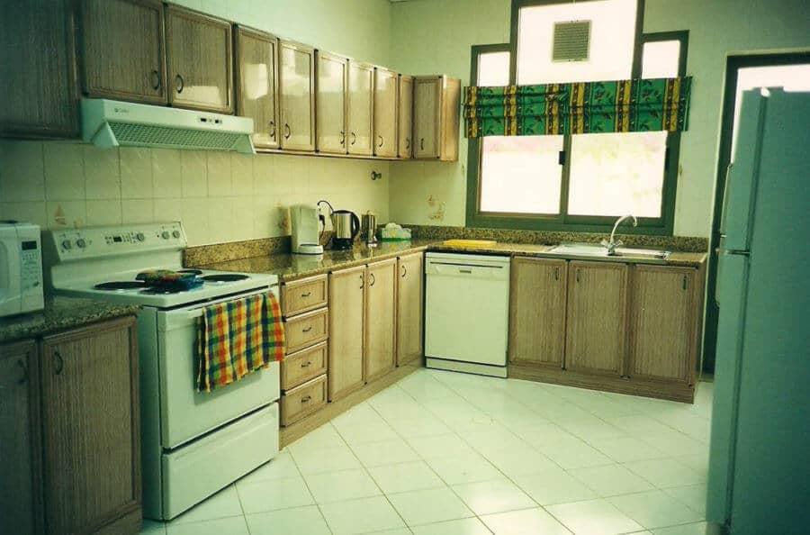 Di dapur, karena hal ini dapat dengan mudah diperluas biaya minimal