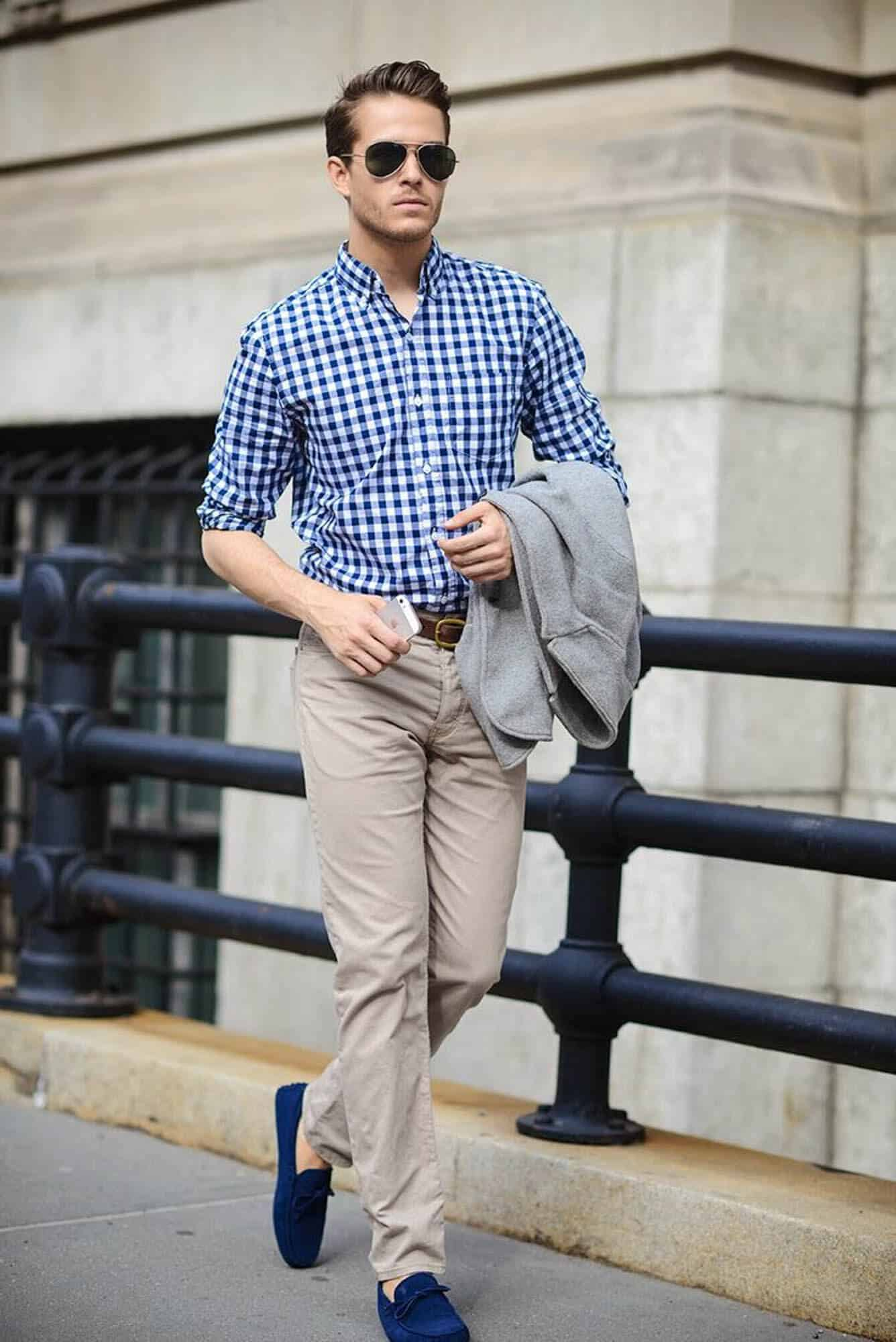 Men 39 s summer shoes guide gentleman 39 s gazette for Blue dress shirt outfit