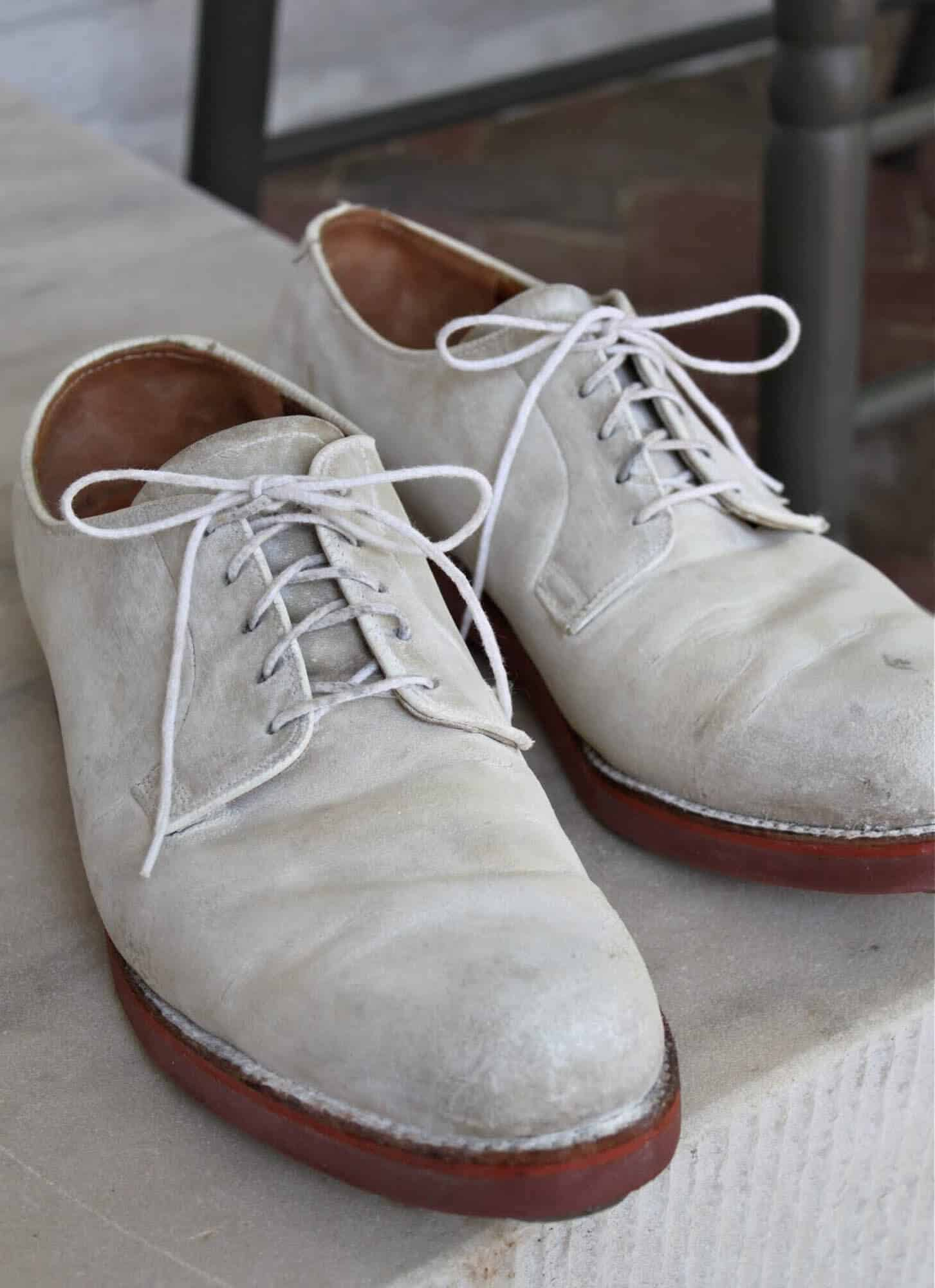 White Buck Oxford Shoes