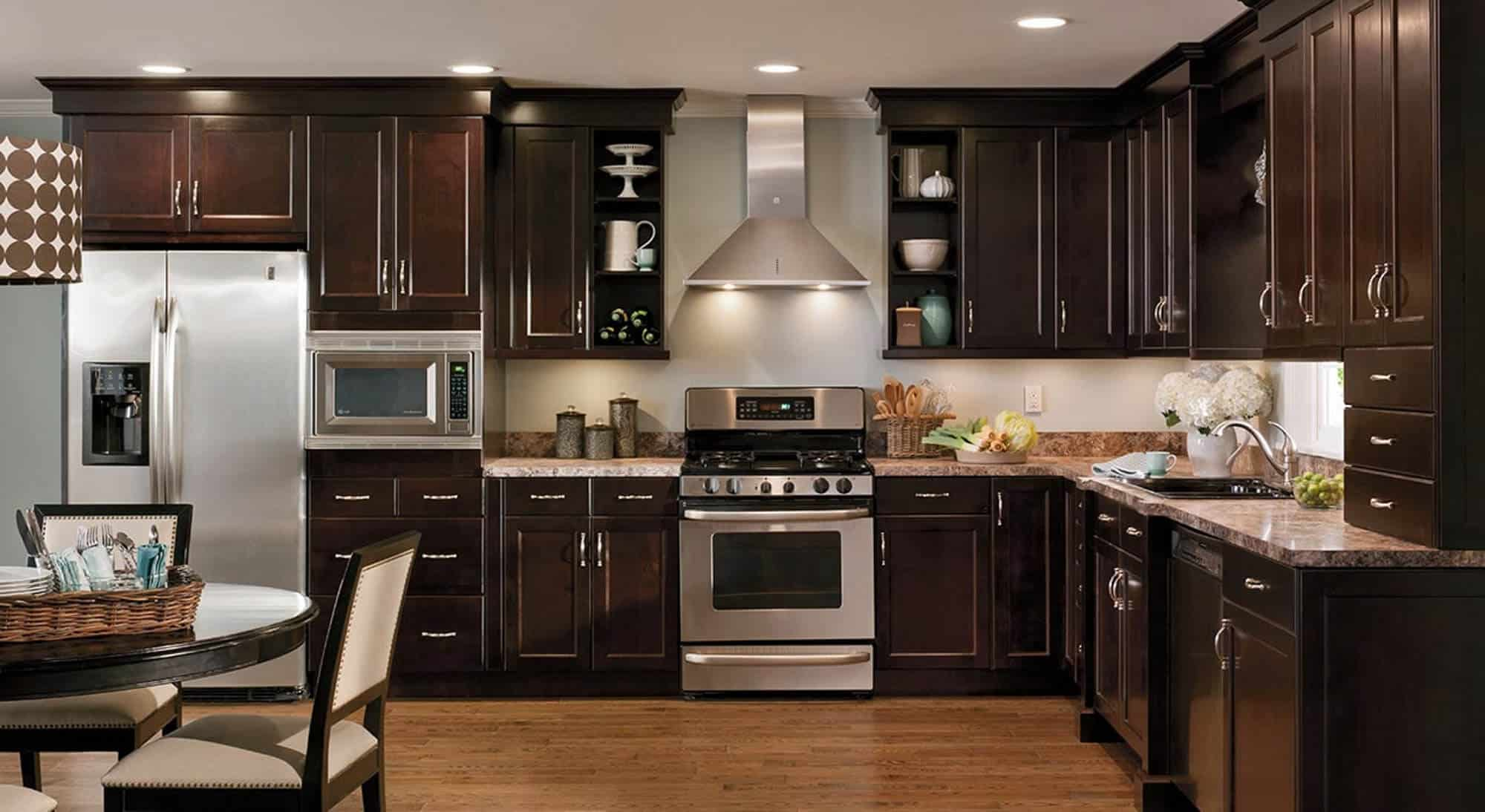 Beautiful Dark Woods Pair Well With Stainless Steel Appliances And Are Easy  To Coordinate With