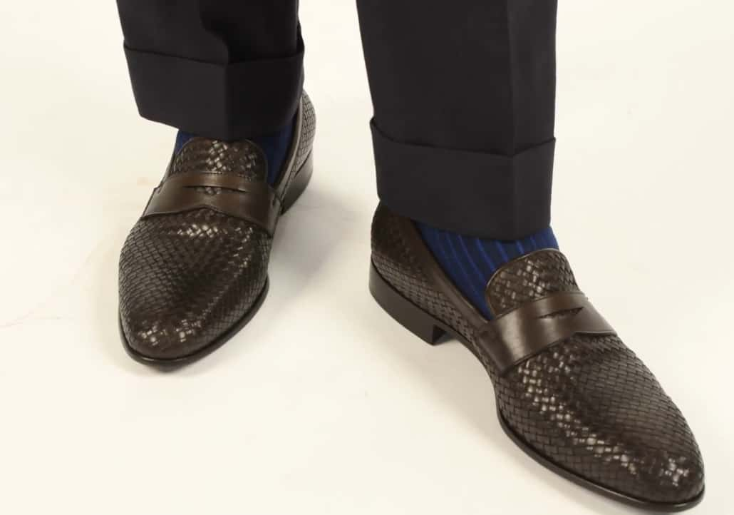Scarosso Woven Leather Loafers