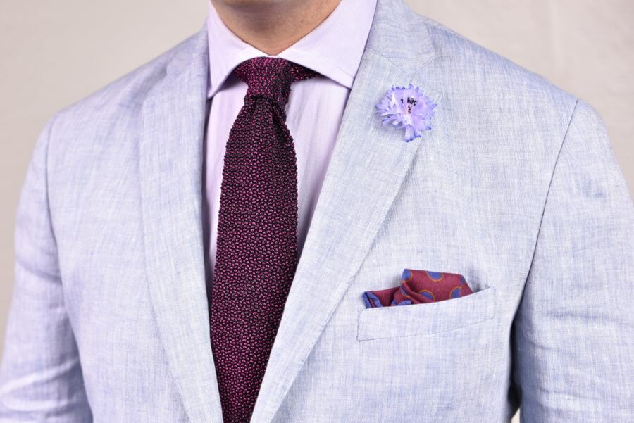 Pink Two Tone Knit Tie Fort Belvedere