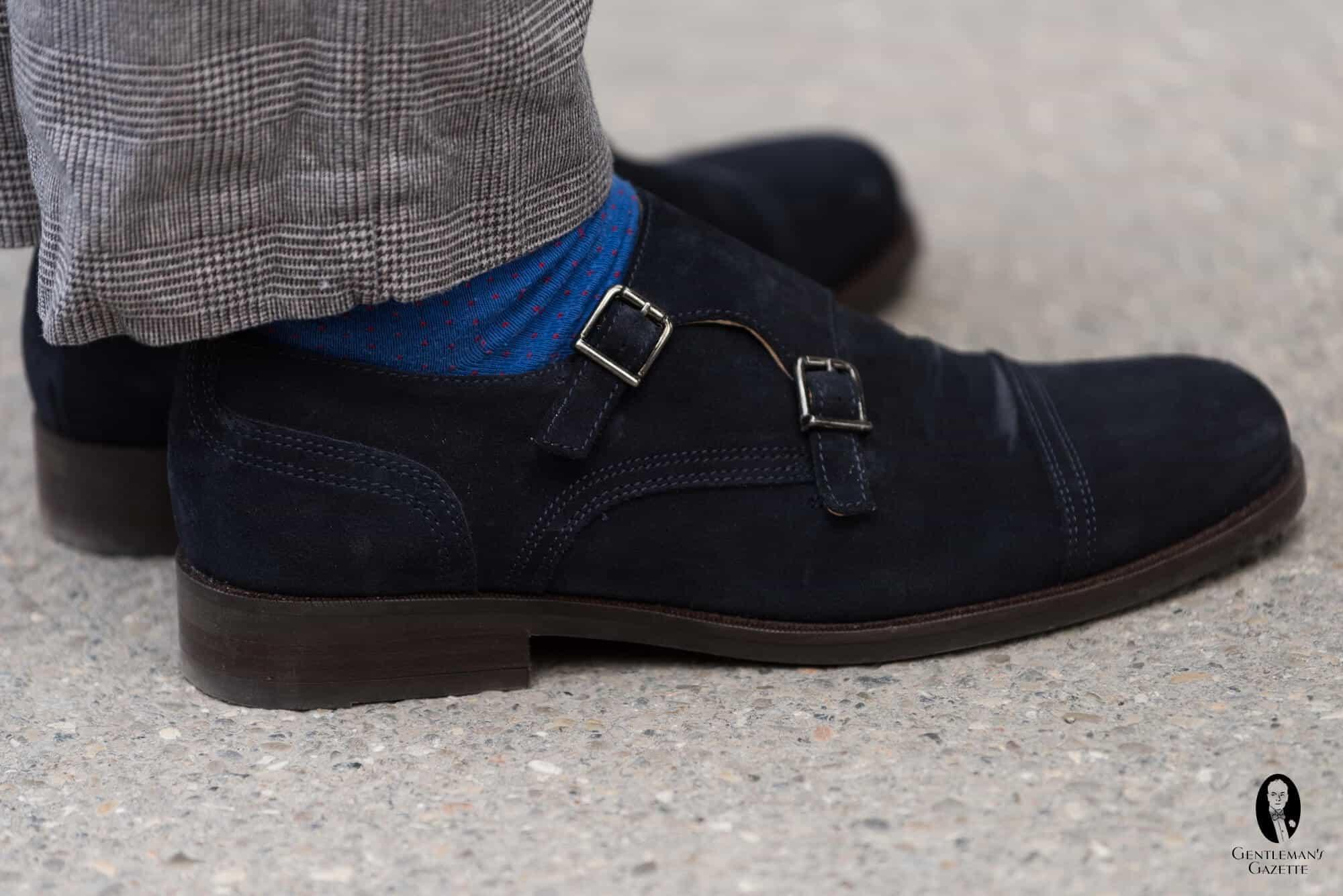 Ermenegildo Zegna Men's New Flex Monk-Strap Shoes, Brown Details Ermenegildo Zegna shoe in calf, lamb, and goat leather. Tapered toe. Single monk strap with silvertone buckle. Comfort rubber outsole. Corthay Arca Suede Double-Monk Shoe, Navy Details Maison Corthay shoe in suede with contrast edges. Tapered plain toe. Double monk straps with.