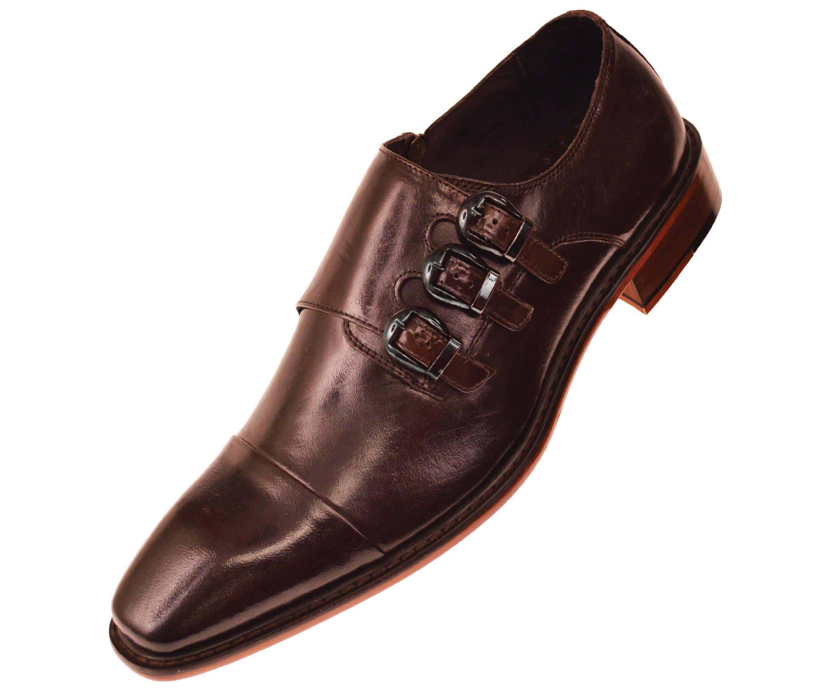 Monk Strap Oxfords. These Monk Strap Oxford Shoes really pack a punch, with the brogue detailing and a hand-burnished wingtip. For fellas that are stuck in a style rut when picking shoes, this keeps the beloved hole details and classic shape.