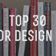 top 30 interior design books