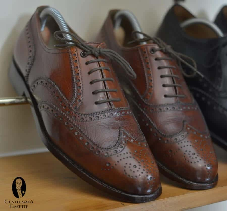 Full Brogue Oxford with a beautiful chestnut brown patina
