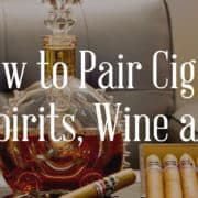 How to pair cigars with spirits and beer