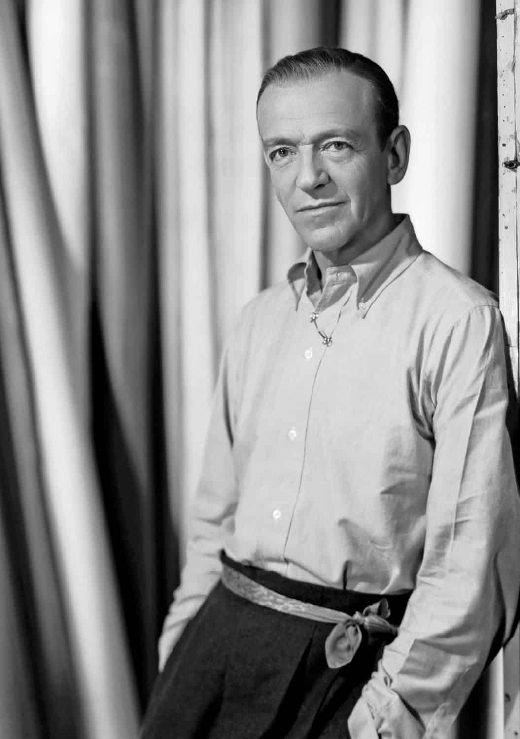 Fred Astaire wearing an OCBD shirt casually