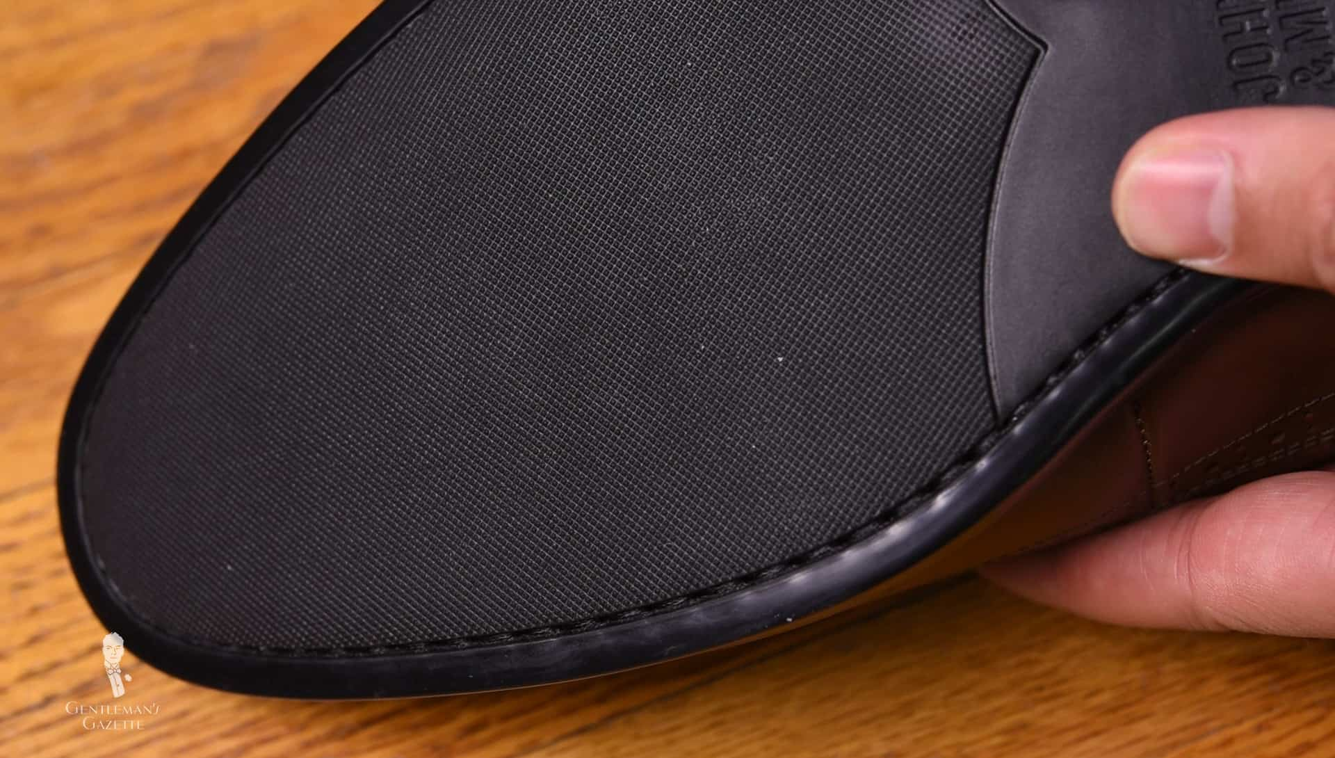 Johnston Murphy Rubber Sole With Stitching