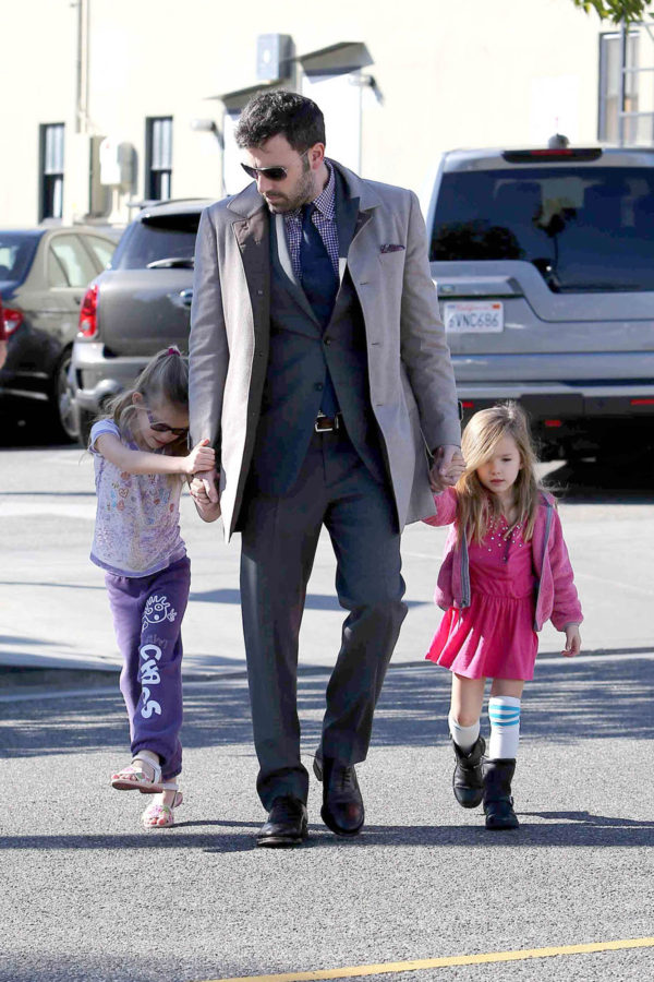 Ben Affleck looking mature and yet still young with his kids