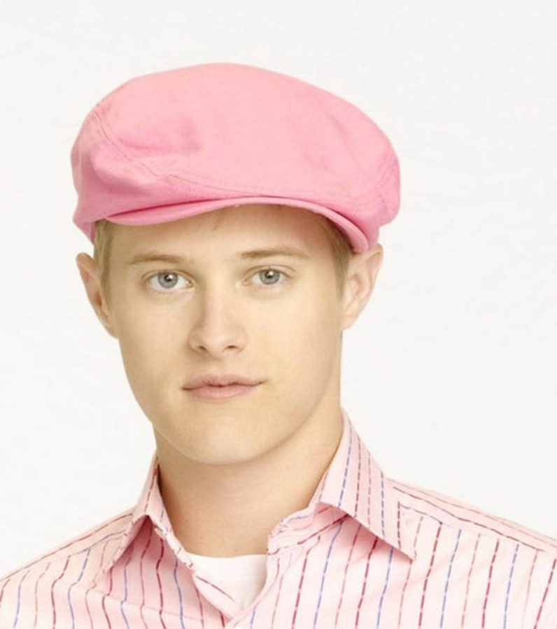 Bold flat cap is ideal for young men