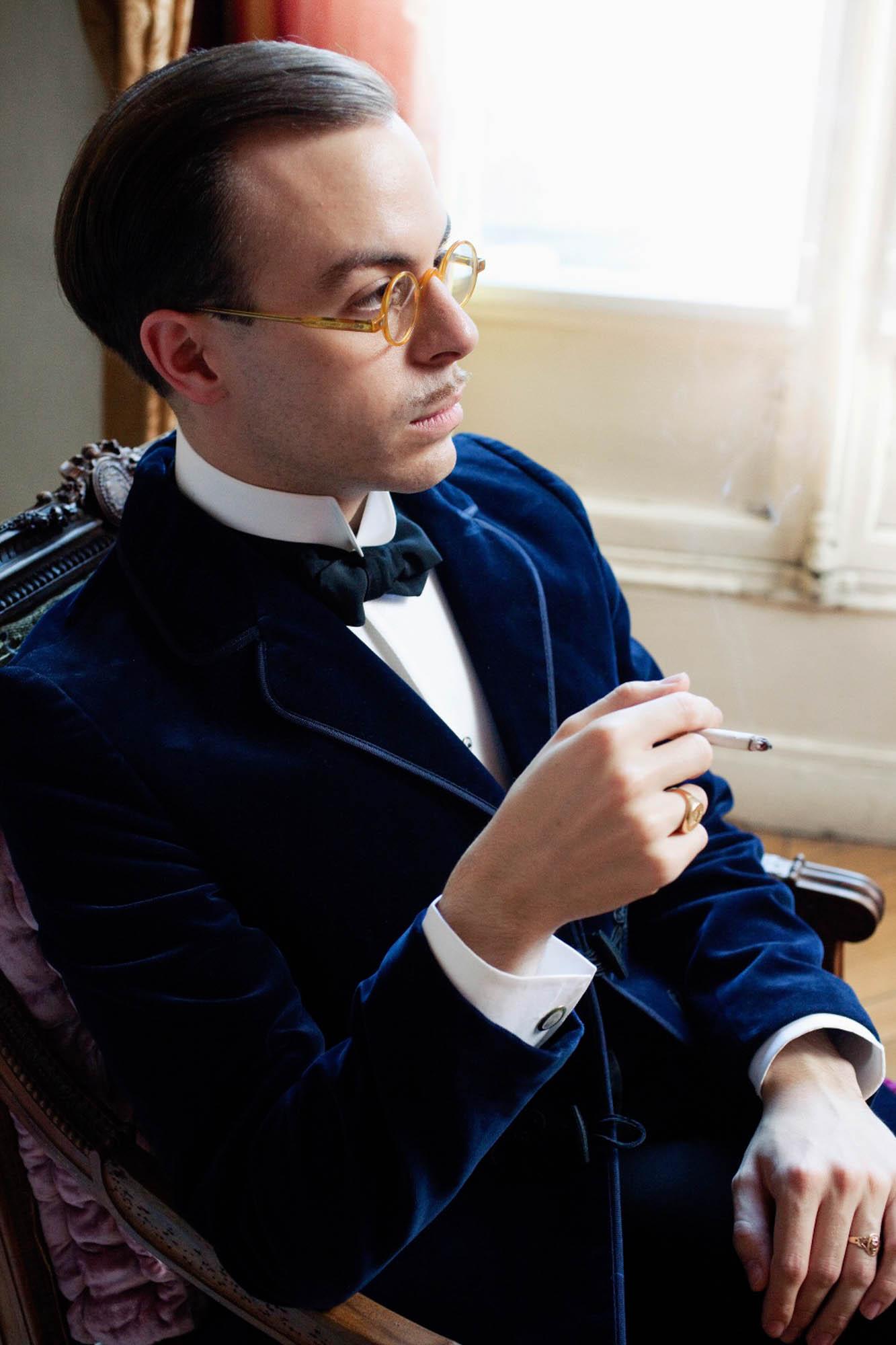 The exceptionally rakish Parisian dandy Massimiliano Mocchia Di Coggiola