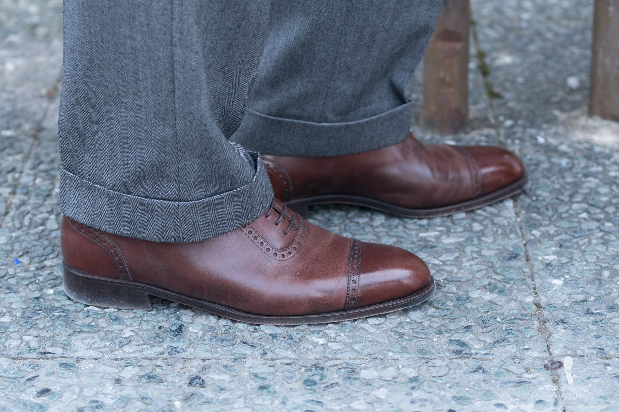 A Brown Quarter Brogue Oxford Is A Wonderful Shoe To Have In Ones Shoe  Closet