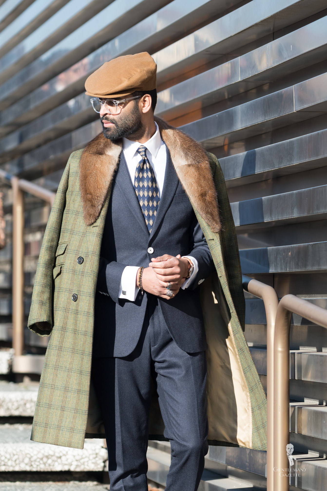 NEW MENS NAVY BLUE 3//4 LENGTH WOOL OVERCOAT WARM WINTER COAT CROMBY STYLE