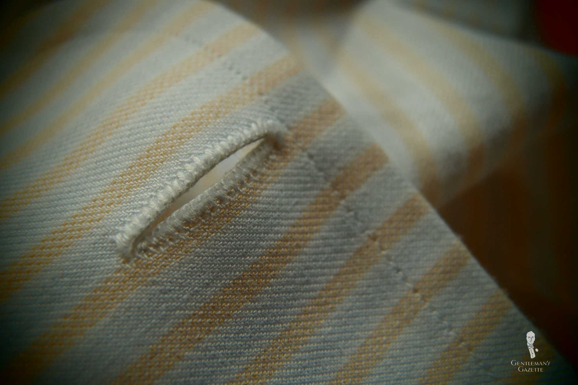 Quality fine handmade buttonhole