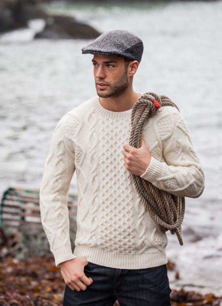 Aran Crew Neck Sweater from Blarney Woolen Mills
