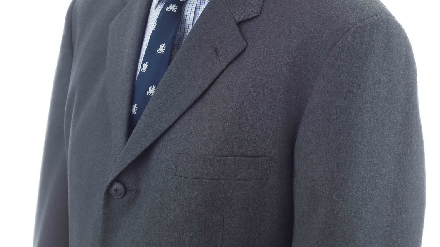 Cheap Suit without lapel roll